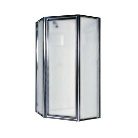 Home Depot Doors With Glass Swan 36 In Neo Angle Shower Door With Obscure Glass Sd00036ob 081 The Home Depot