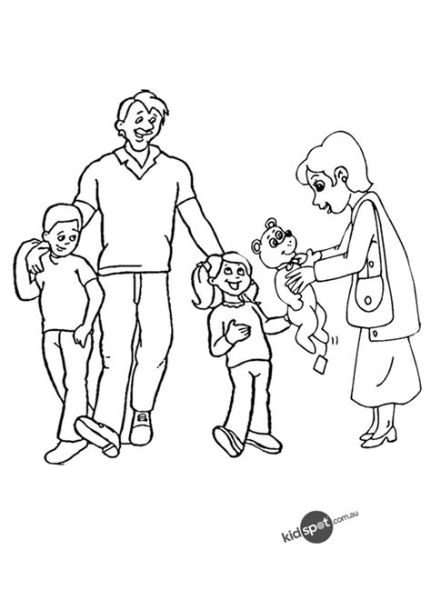 Free Coloring Pages Of Family Family Coloring Page