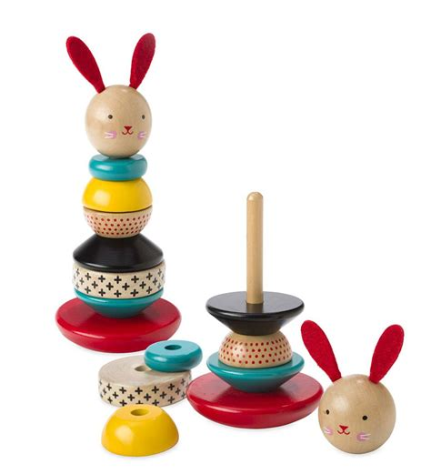 wooden stacking bunny toy magiccabin