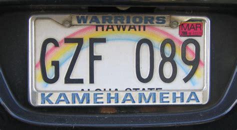 Vanity Plates Hawaii by Usa Hawaii