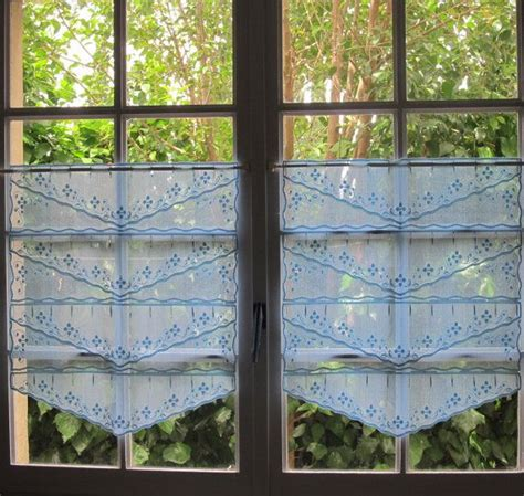 french lace cafe curtains lace cafe curtains pair blue french lace curtains floral