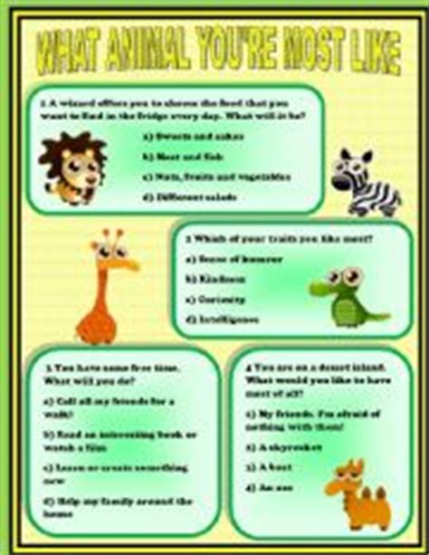 printable animal personality test printable animal personality quiz karikala cholon essay help
