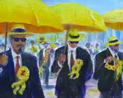 watercolor new orleans second line painting gallery new orleans paintings h eric hartman