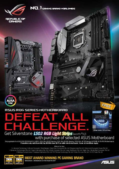 pc themes technology pte ltd promo asus motherboard x silverstone aura led www