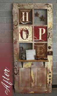 Old Door Decorating Ideas 1000 Images About Craft Ideas On Pinterest Primitive