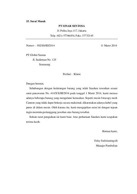 contoh surat pesanan peralatan kantor 28 images contoh surat