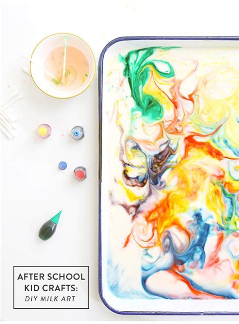 After School Kid Crafts: How to Make Milk Art   Say Yes