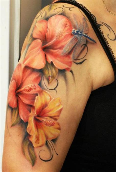 tattoo hibiscus arm hibiscus dragonfly tattoo best tattoo ideas designs