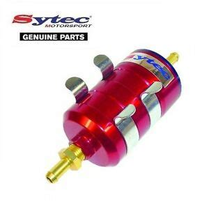 sytec bullet fuel filter red mm push  hose fittings carb injection ebay