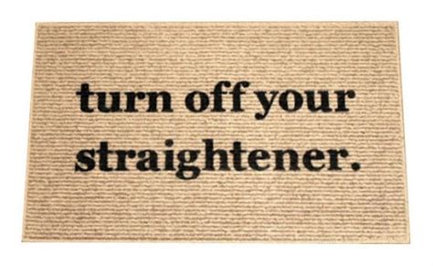 turn your straightener rug the original turn your straightener decorative door mat doormat area rug painted