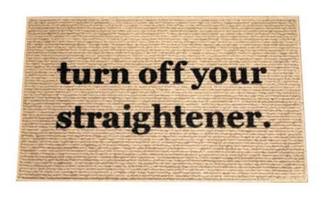 turn straightener rug the original turn your straightener decorative door mat doormat area rug painted