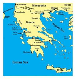 Map Of Classical Greece by Map Of Ancient Greece 44 Bc