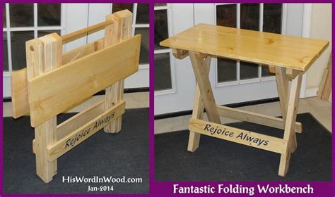 folding tool bench wood portable folding workbench plans pdf plans