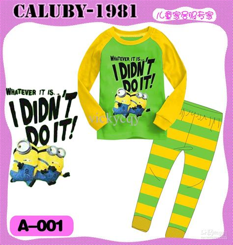 Pajamas Caluby Minion wholesale new pajamas despicable me minion