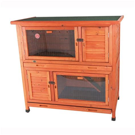 2 In 1 Rabbit Hutch trixie 3 8 ft x 2 1 ft x 3 7 ft 2 in 1 rabbit enclosure with insulation hutch 62404 the
