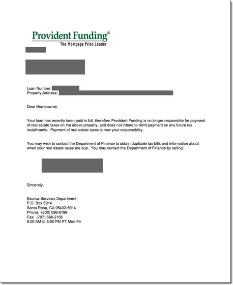 Mortgage Satisfaction Letter Template Loan Payoff Request Letter