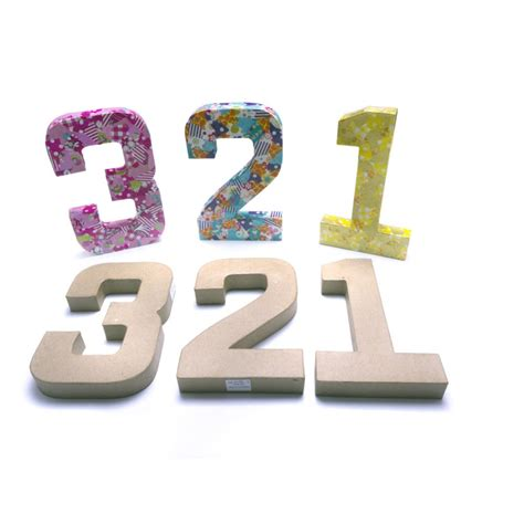 How To Make Paper Mache Numbers - paper mache number 1 decopatch and paper mache from