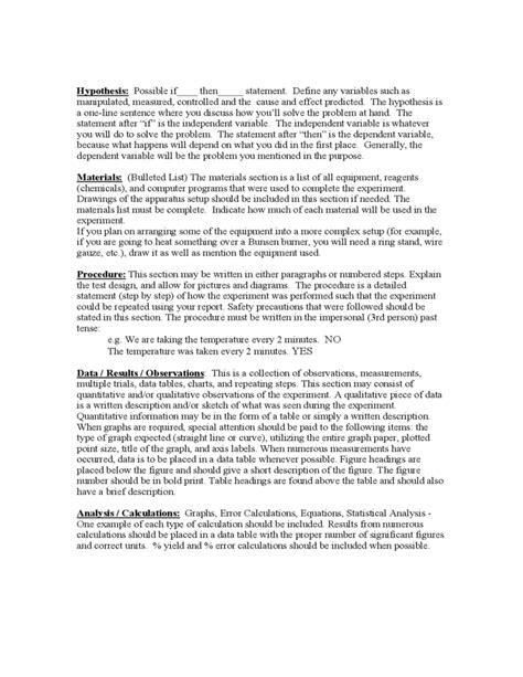 high school lab report template lab report format liberty high school free