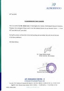 Sample Letter Certification Attendance aurobindo internship certificate 2013 pdf