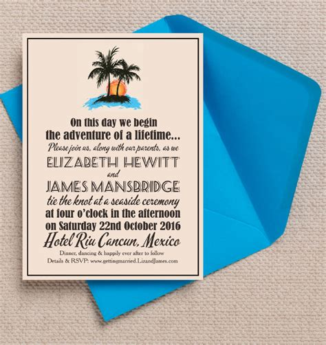 trendy destination wedding invitations top 10 mexican themed destination wedding invitations