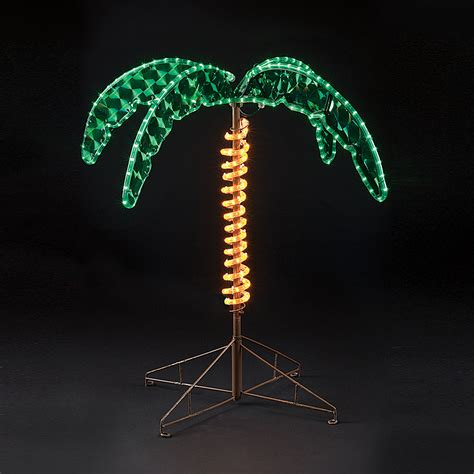 Outdoor Palm Tree Lights 30 Inch Lighted Palm Tree Made W Rope Lights Oogalights