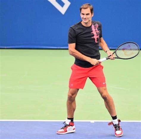 roger federer roger federer at tennis us open wearing white x air