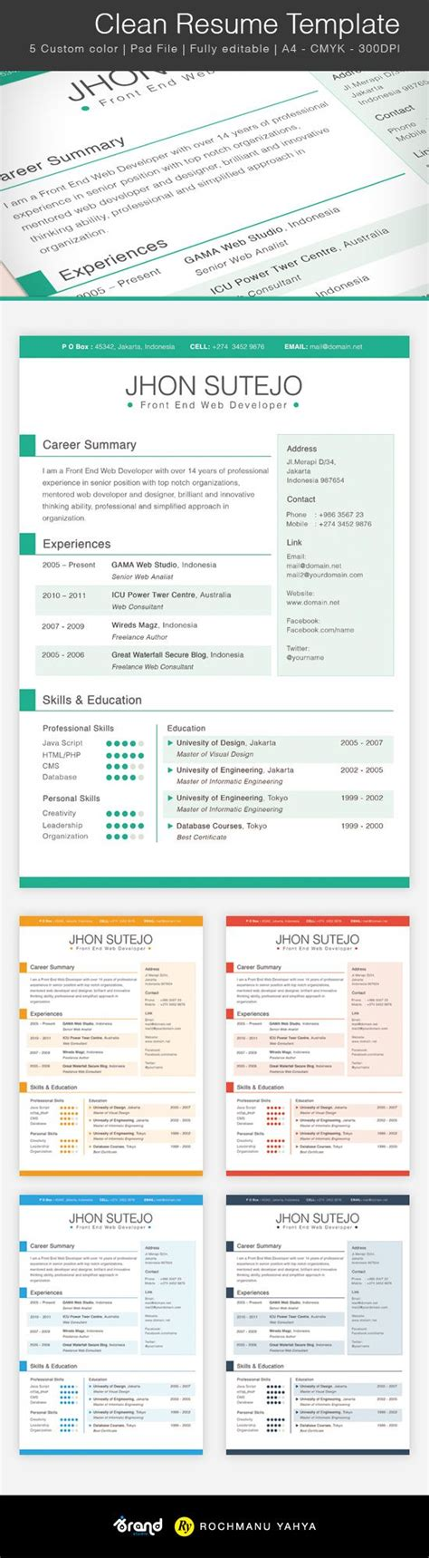 Give Me An Exle Of A Resume by Best 25 Resume Templates Ideas On Layout Cv