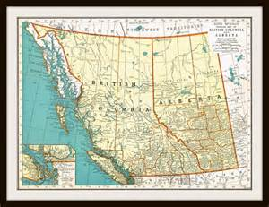 items similar to antique map canada columbia