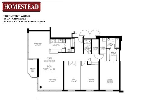 two bedroom plus den apartment floor plan oaks of lake george locomotive works homestead