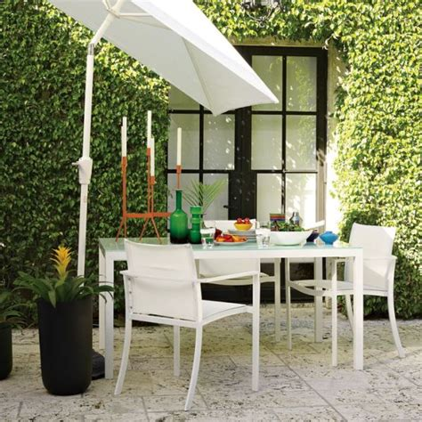 White Glass Patio Table Modern White Glass Top Outdoor Table