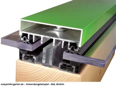 klemmprofile glasdach verlegeprofil mittelprofil komplettprofil 100 mm f 252 r vsg