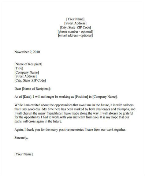 appreciation letter to employee after resignation 7 sle thank you resignation letters free sle