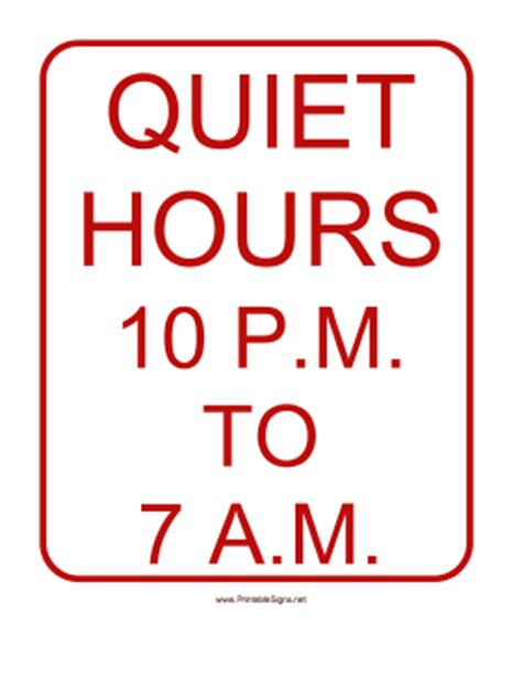 printable quiet signs quiet please testing sign