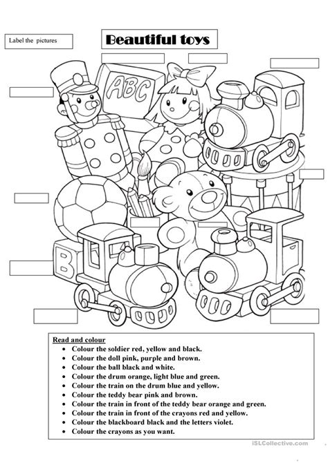 beautiful toys worksheet free esl printable worksheets