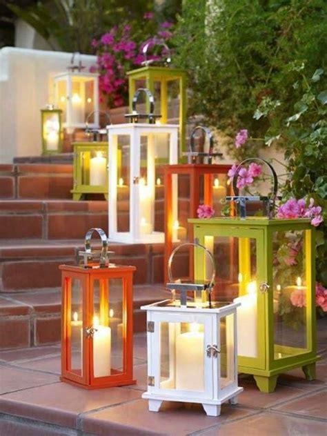 lanterne per candele lanterne da giardino fai da te idee giardino arredando
