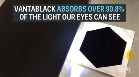the world s darkest black absorbs more than 99 of visible light