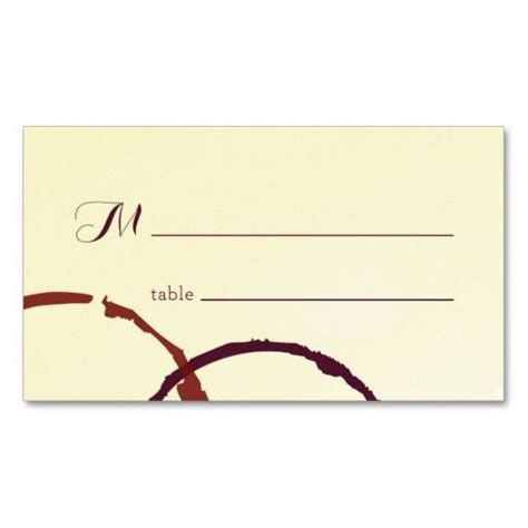 Wine Place Card Template by 17 Best Images About Rustic Business Cards On