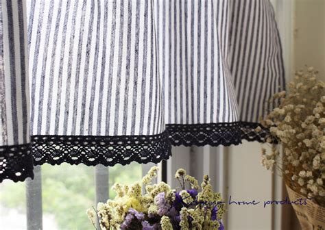french stripe cafe curtain mediterranean french country rustic stripe kitchen cafe