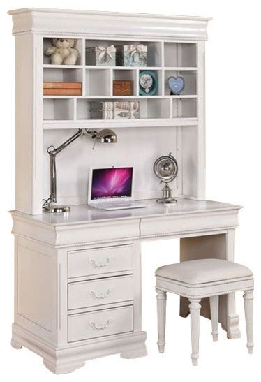 White Desk With Hutch For Sale Acme Classique Computer Desk And Hutch White Traditional Desks And Hutches By Bedroom
