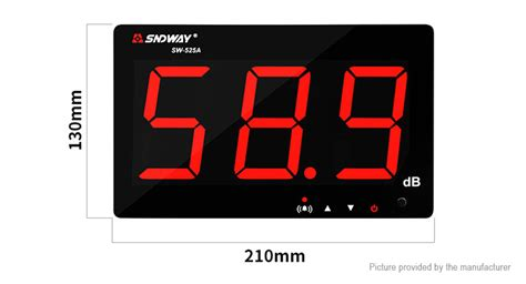 Digital Sound Level Meter Sndway Sw 523 30 130 Db 69 03 sndway sw 525a wall mounted digital noise sound