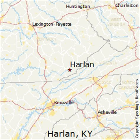 kentucky map harlan county best places to live in harlan kentucky