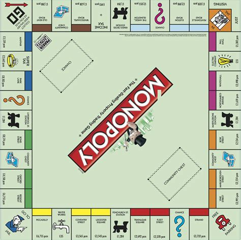 layout of monopoly board game here s what the monopoly board would look like for london