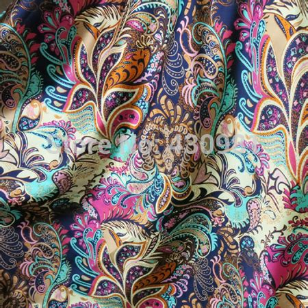 chinese pattern fabric uk wholesale soft spandex satin fabric for sewing vintage