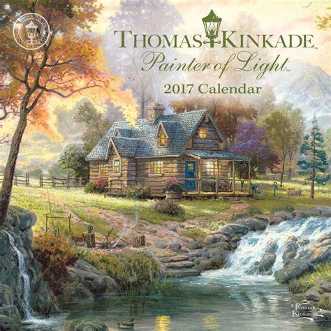 thomas kinkade lighted pictures thomas kinkade painter of light mini wall calendar