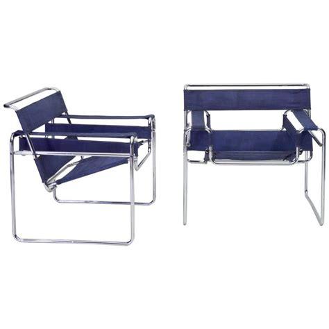 wassily chair gavina original 1962 gavina blue canvas wassily chairs pre knoll
