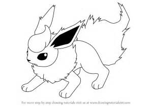 learn how to draw flareon from pokemon pokemon step by