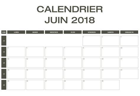 Calendrier 2018 Juin Calendrier 2018 Excel Pdf 224 T 233 L 233 Charger Gratuitement