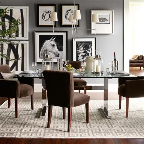 williams sonoma dining table mercer dining table with glass top williams sonoma