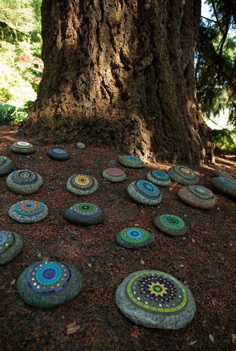 Dunn Gardens Painted Rock Garden Cool Way To Pick Up Painted Rocks For Garden