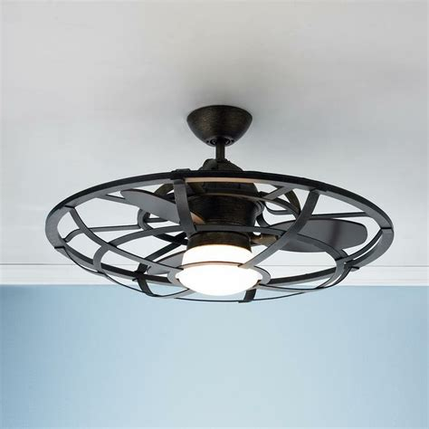 industrial style ceiling fans caged ceiling fan black kitchen ceiling